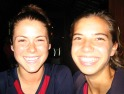 Why not smile? 17-year-olds Kelley O'Hara (left) and Tobin Heath on the youngest players on the U-20 WNT.