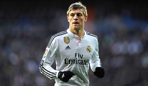 MADRID, SPAIN - FEBRUARY 15: Toni Kroos of Real Madrid looks on during the La Liga match between Real Madrid CF and RC Deportivo La Coruna at Estadio Santiago Bernabeu on February 15, 2015 in Madrid, Spain. (Photo by Denis Doyle/Getty Images)