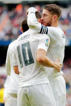 Sergio congratulates James