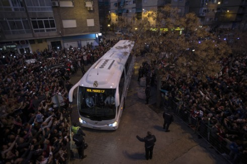 Team bus in Granada