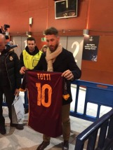 Ramos with Totti signed jersey