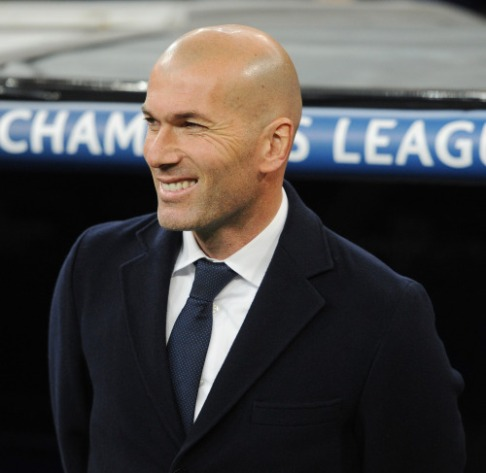 Zizou all smiles
