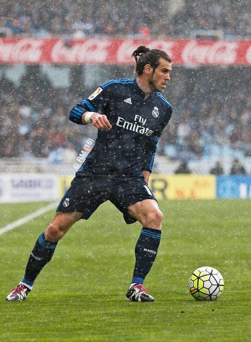 Bale in the rain