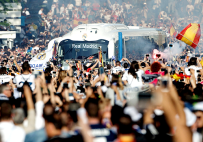 Bus in the crowd