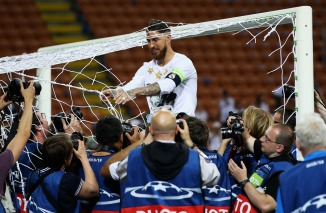 during the UEFA Champions League Final between Real Madrid and Club Atletico de Madrid at Stadio Giuseppe Meazza on May 28, 2016 in Milan, Italy.