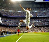May 4, 2016 - Madrid, ESPAÑA - Partido de vuelta de la semifinal de la Champions League disputado entre Real Madrid y Manchester City. En la imagen, Bale celebra su gol. ..Second leg of the Champions League semifinals played between Real Madrid vs Manchester City. In this picture, Bale celebrates his goal. (Credit Image: � UE Syndication via ZUMA Press)