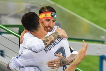 Sergio hugs Cris