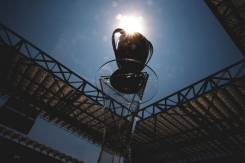 Sun shines on the trophy