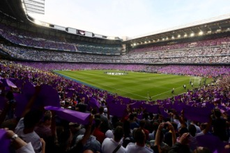 The Bernabeu in purple