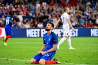 Olivier Giroud of France looks dejected during the UEFA EURO 2016 Group A match between France and Albania at Stade Velodrome on June 15, 2016 in Marseille, France. (Photo by Dave Winter/Icon Sport) (Photo by Dave Winter/Icon Sport via Getty Images)