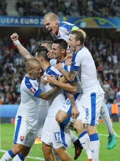during the UEFA EURO 2016 Group B match between Russia and Slovakia at Stade Pierre-Mauroy on June 15, 2016 in Lille, France.
