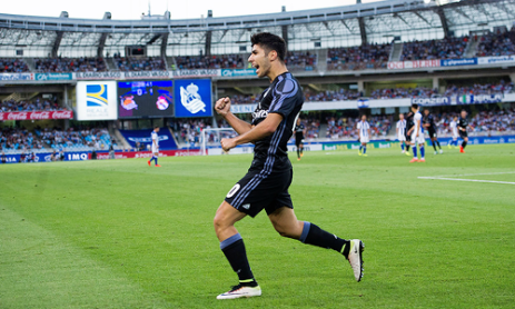 Fist pumping Asensio