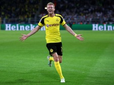 during the UEFA Champions League Group F match between Borussia Dortmund and Real Madrid CF at Signal Iduna Park on September 27, 2016 in Dortmund, North Rhine-Westphalia.