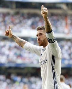 MADRID, SPAIN - SEPTEMBER 10: ... of Real Madrid ... during the La Liga match between Real Madrid CF and CA Osasuna at Estadio Santiago Bernabeu on September 10, 2016 in Madrid, Spain. (Photo by Angel Martinez/Real Madrid via Getty Images)