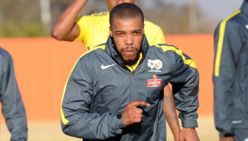 Wandisile Letlabika  during the South Africa Senior Mens team Afternoon Training session on 30 June 2015 at AW Muller Stadium Pic Sydney Mahlangu/BackpagePix