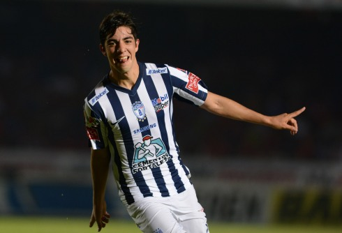 Action photo during the match Veracruz vs Pachuca, Corresponding to the round 17 of Championship Clausura 2015 Liga BBVA Bancomer MX, in the photo: Rodolfo Pizarro Foto durante el festejo de gol en el Partido Veracruz vs Pachuca, Partido Correspondiente a la Jornada 17 del Torneo Clausura 2015 Liga BBVA Bancomer MX, en la Foto: Rodolfo Pizarro 08/05/2015/ MEXSPORT / Luis Monroy Estadio Luis Pirata Fuentes