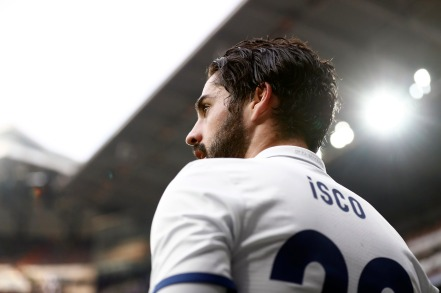 MADRID, SPAIN - FEBRUARY 18: Isco Alarcon of Real Madrid looks on during the La Liga match between Real Madrid and RCD Espanyol at Estadio Santiago Bernabeu on February 18, 2017 in Madrid, Spain. (Photo by Helios de la Rubia/Real Madrid via Getty Images)
