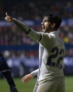 PAMPLONA, SPAIN - FEBRUARY 11: ... of Real Madrid ... during the La Liga match between CA Osasuna and Real Madrid CF at El Sadar stadium on February 11, 2017 in Pamplona, Spain. (Photo by Angel Martinez/Real Madrid via Getty Images)